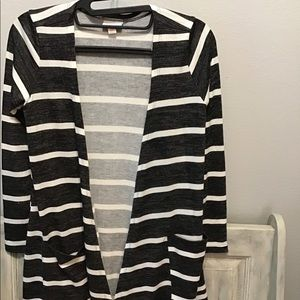 Striped cardigan - loose with no buttons.
